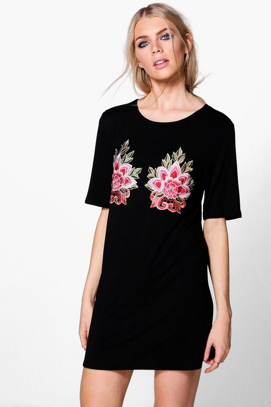 Izzy Embroidery T-Shirt Dress