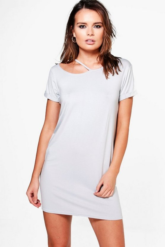 Huda Cut Out Detail T-Shirt Dress