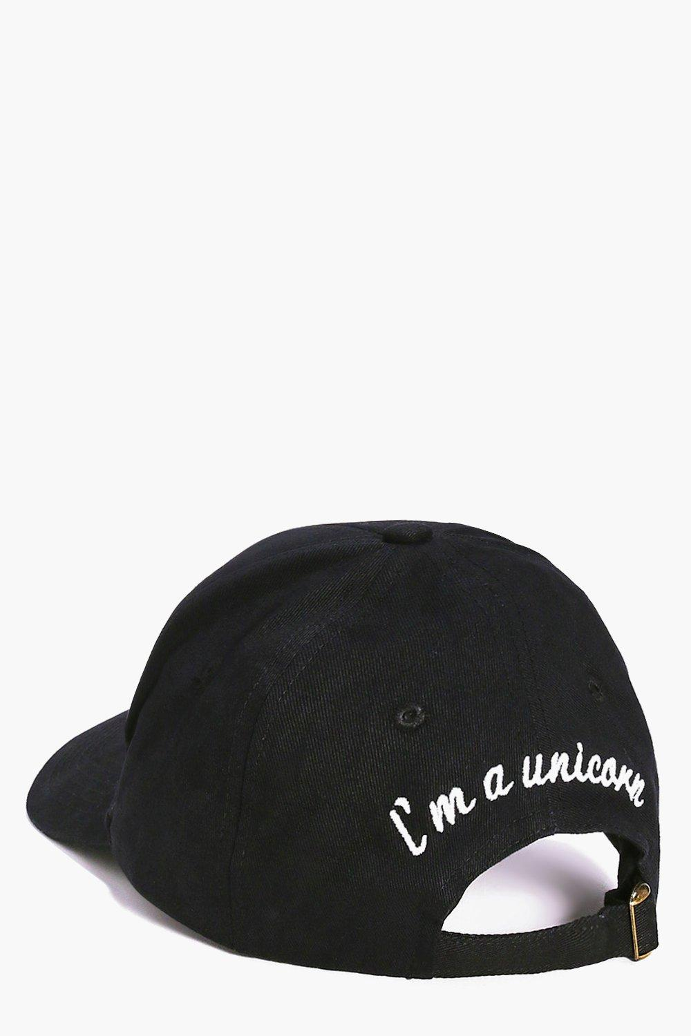I`m A Unicorn Slogan Baseball Cap - black - Eloise