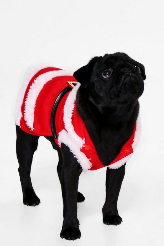 Novelty Santa Hooded Dog Fancy Dress Outfit