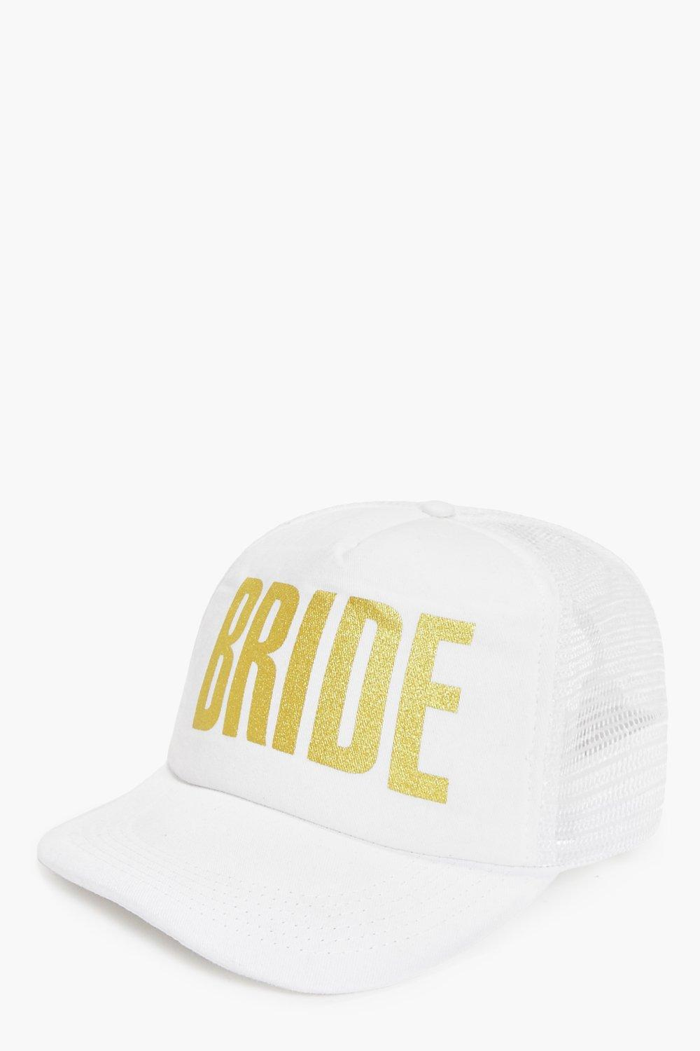 Bride Slogan Baseball Cap - white - Kate Bride Slo