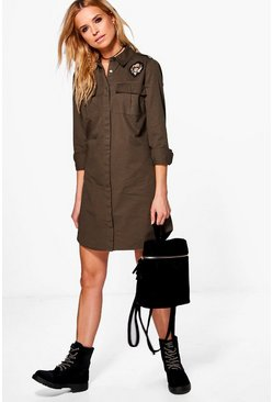 Philly Badge Detail Shirt Dress