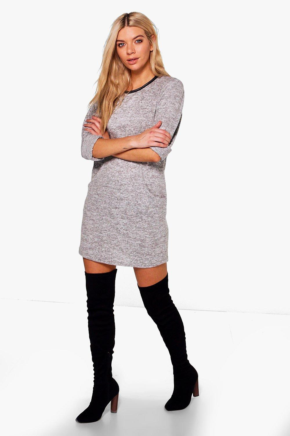 Nicole Marl Knit Dress