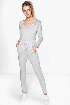 Caroline Soft Marl Knit Lounge Jumpsuit