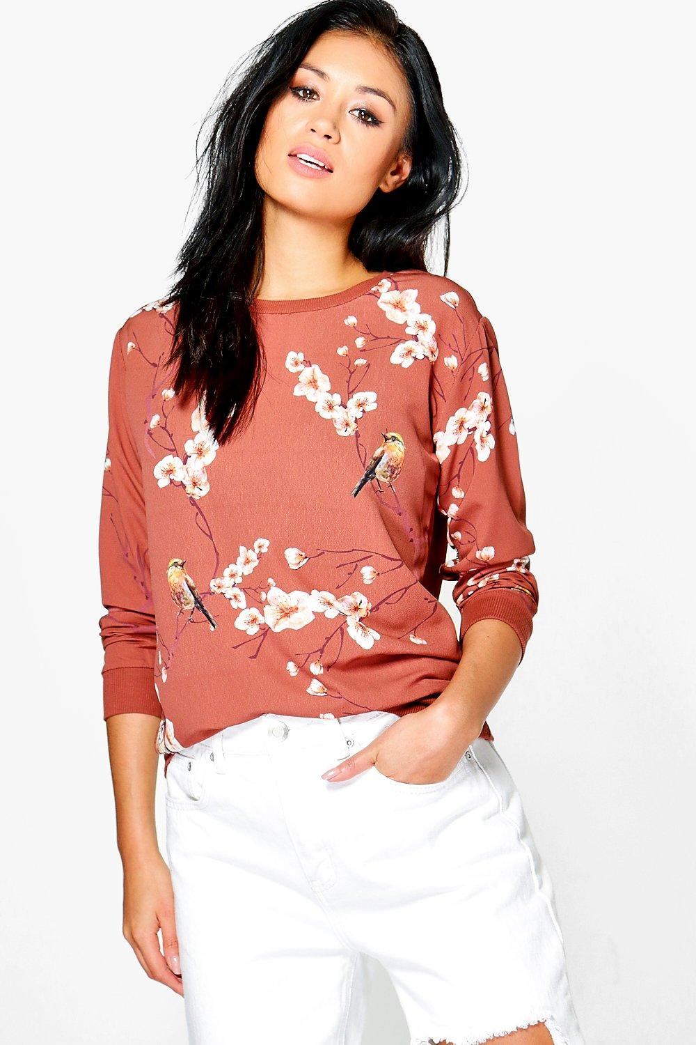 Suzzie Woven Printed Sweat Shirt