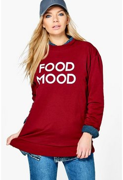Laila Food Slogan Longline Sweat