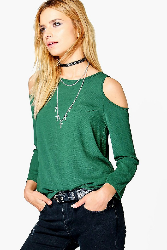 Naomi Cold Shoulder Woven Top
