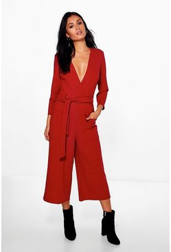 Bethany Pocket Belted Tailored Jumpsuit