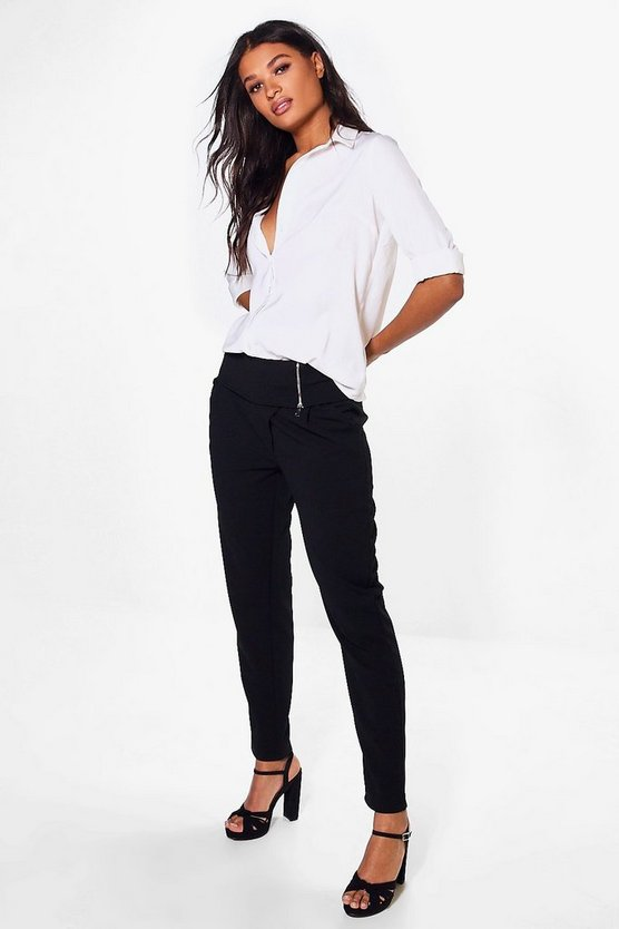 Victoria Zip Detail Skinny Stretch Trouser