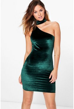 Annabelle Velvet Choker Bodycon Dress