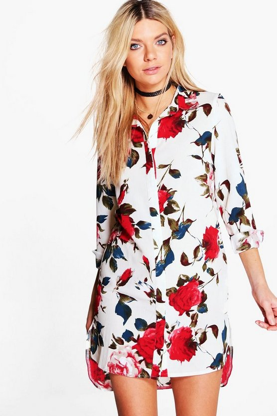 Tabitha Floral Print Shirt Dress
