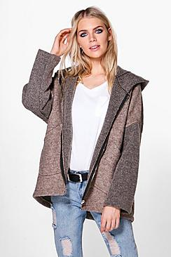 Alicia Hooded Oversized Coat