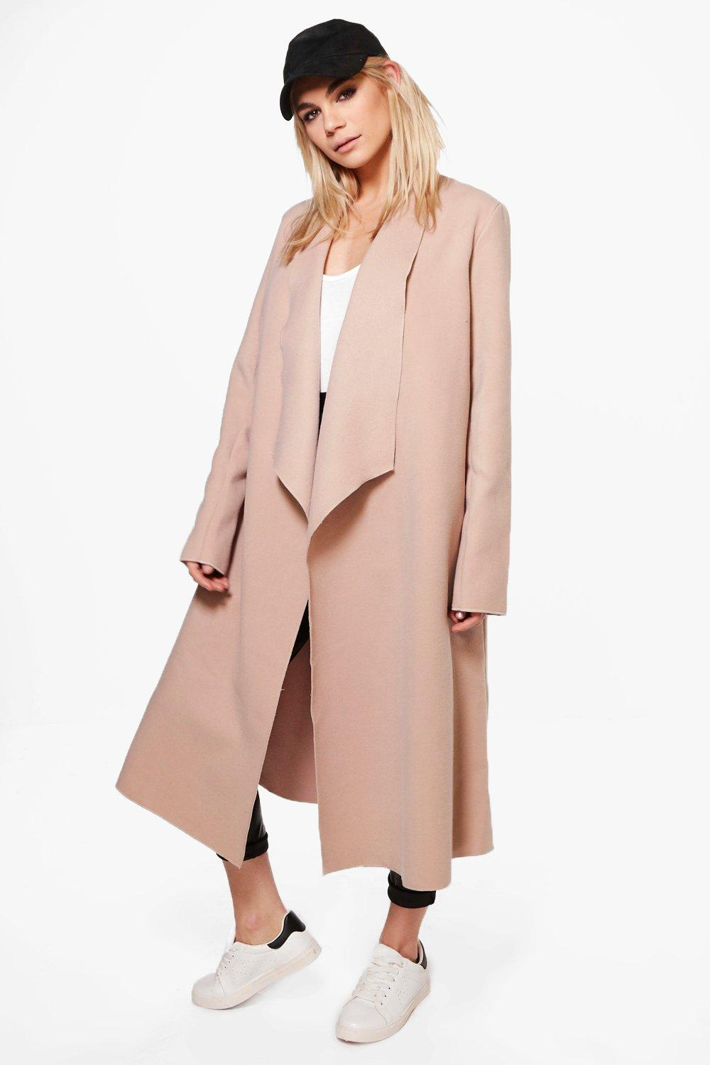 Natalia Wool Look Shawl Collar Coat