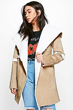 Maria Sherpa Lined Bonded Coat