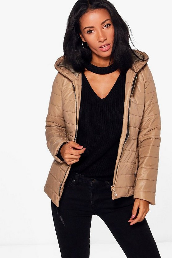 Eloise Hooded Quilted Jacket