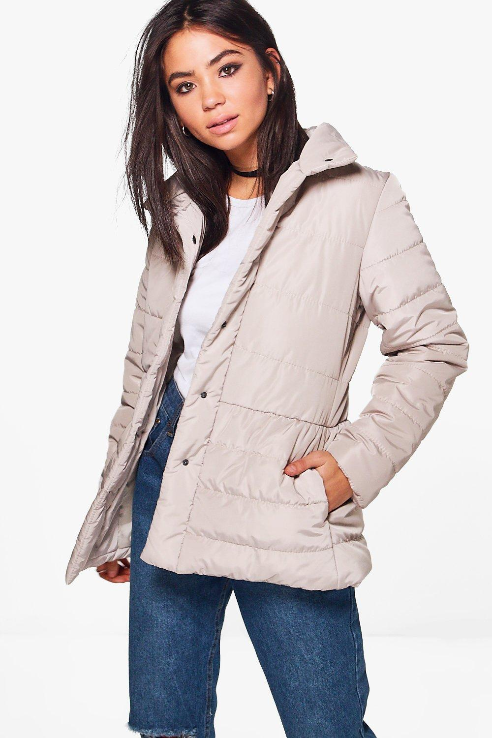 Victoria High Neck Quilted Jacket