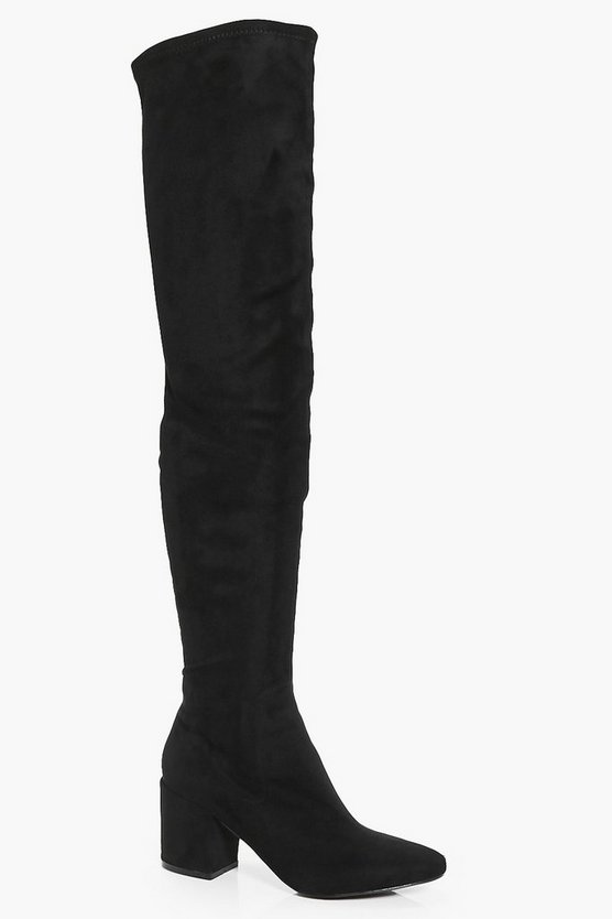 Libby Block Heel Thigh High Boot