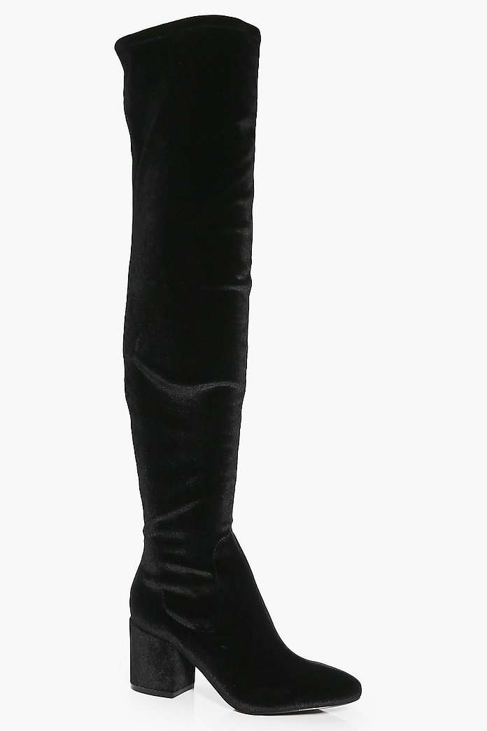 Alexandra Low Block Heel Over The Knee Boot