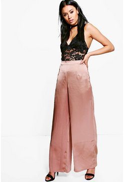 Sofie Satin Wide Leg Trousers