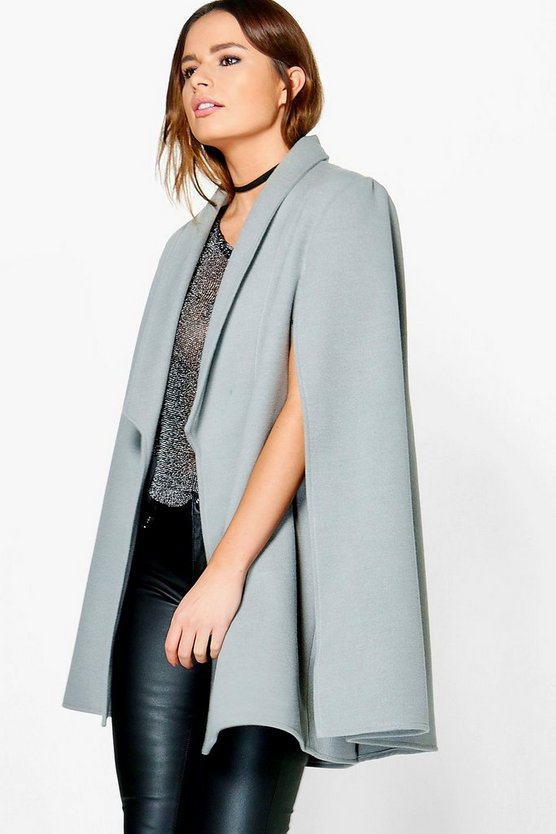Wool Look Cape