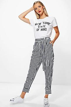 Idalia Contrast Stripe Slim Fit Tailored Trousers