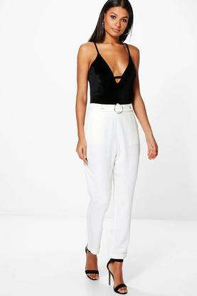 Avah Waist Detail Tailored Trousers