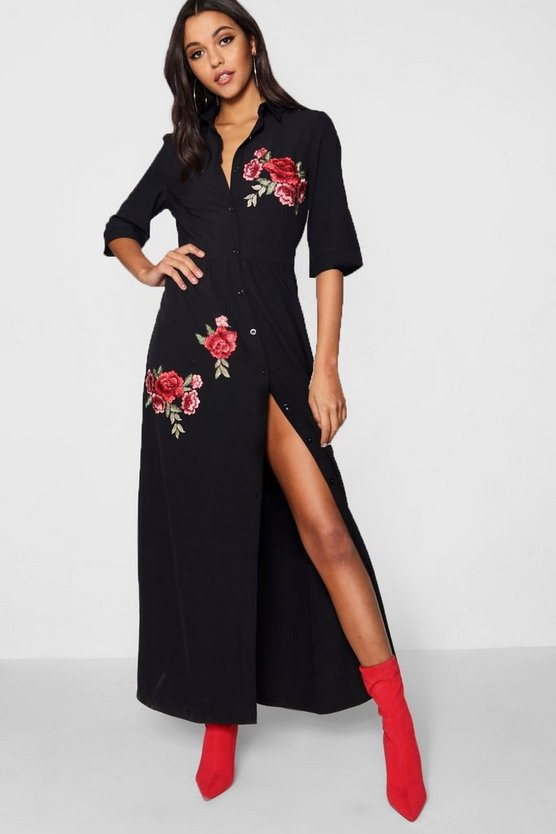 Jaydene Embroidered Maxi Dress