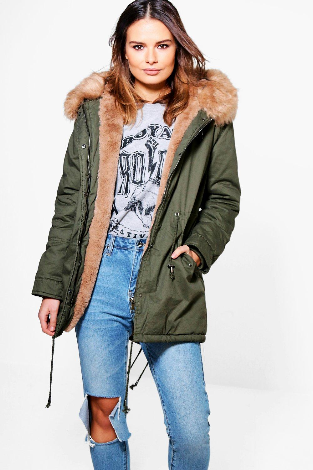 Olivia Faux Fur Lined Hooded Parka