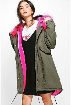 Lily Faux Fur Lined Hooded Parka