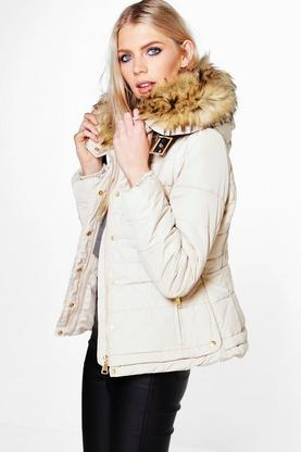 Emily Padded Jacket With Faux Fur Hood