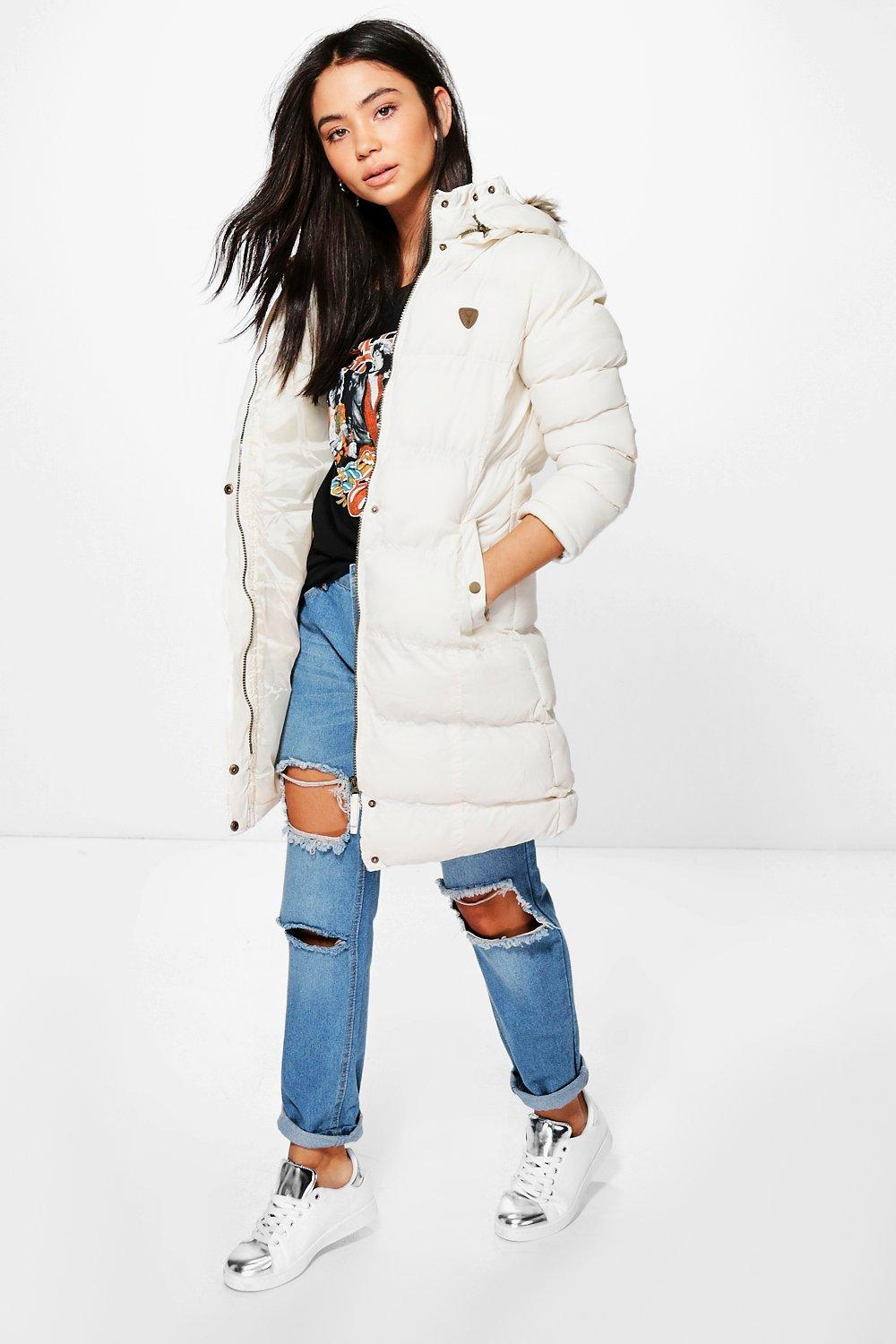 Nicole Longline Padded Hooded Jacket