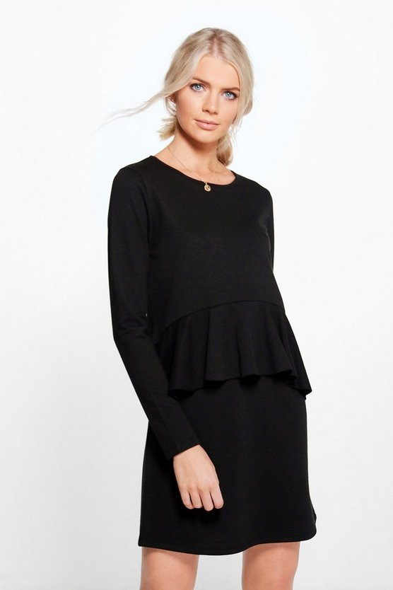 Yasmin Ruffle Front Sweat Dress