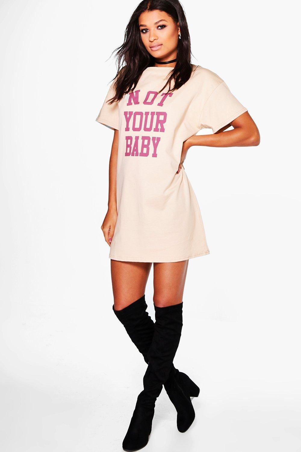 Lisa Not Your Baby T-Shirt Dress