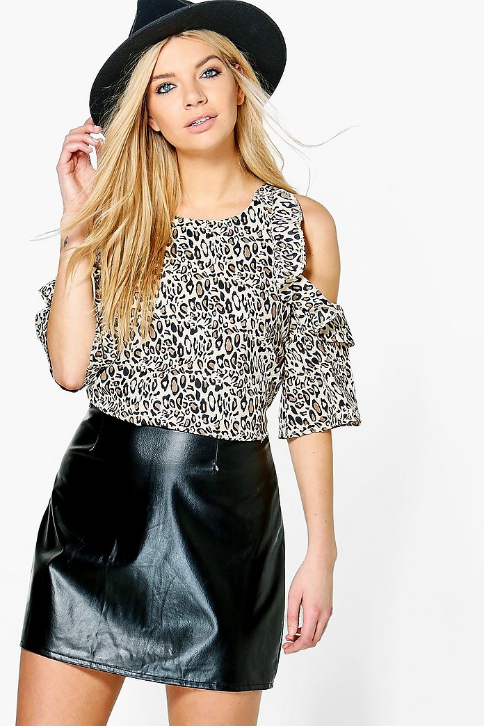 Hollie Printed Cold Shoulder Top