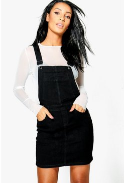 Penny stretch Denim Pinafore Dress