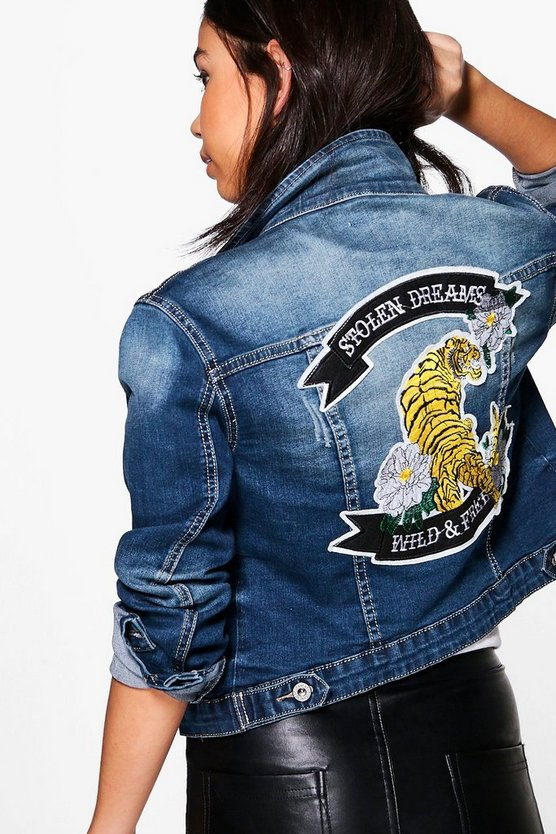 Sarah Slogan Denim Jacket