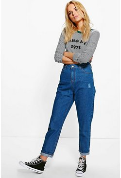 Milly Relaxed Fit Mid Rise Boyfriend Jeans