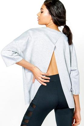 Ellie Fit Split Back Running Sweat Top