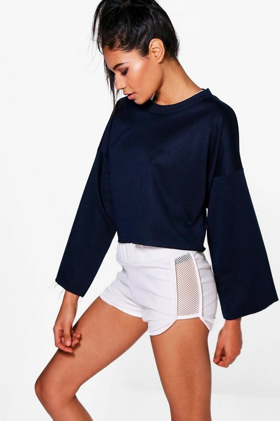 Gracie Fit Running Crop Sweat