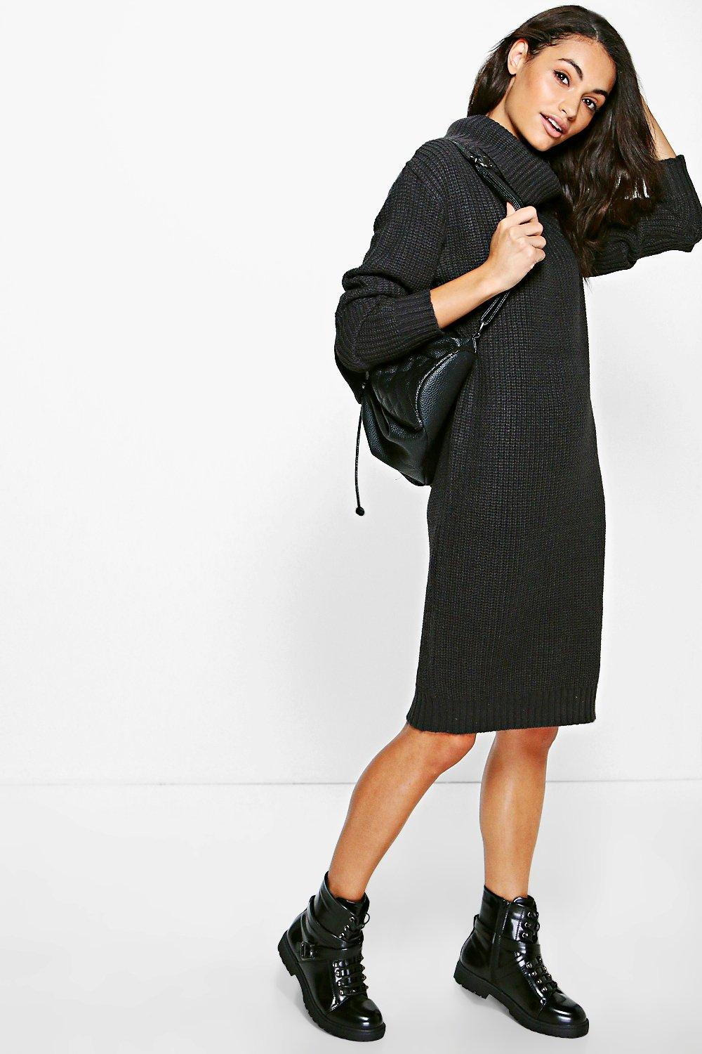 Caroline Roll Neck Jumper Dress