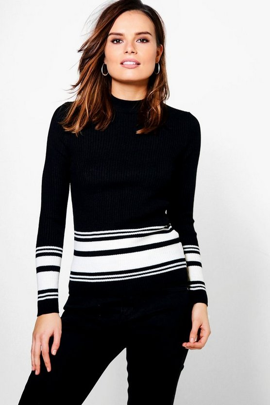 Layla Monochrome Stripe Jumper