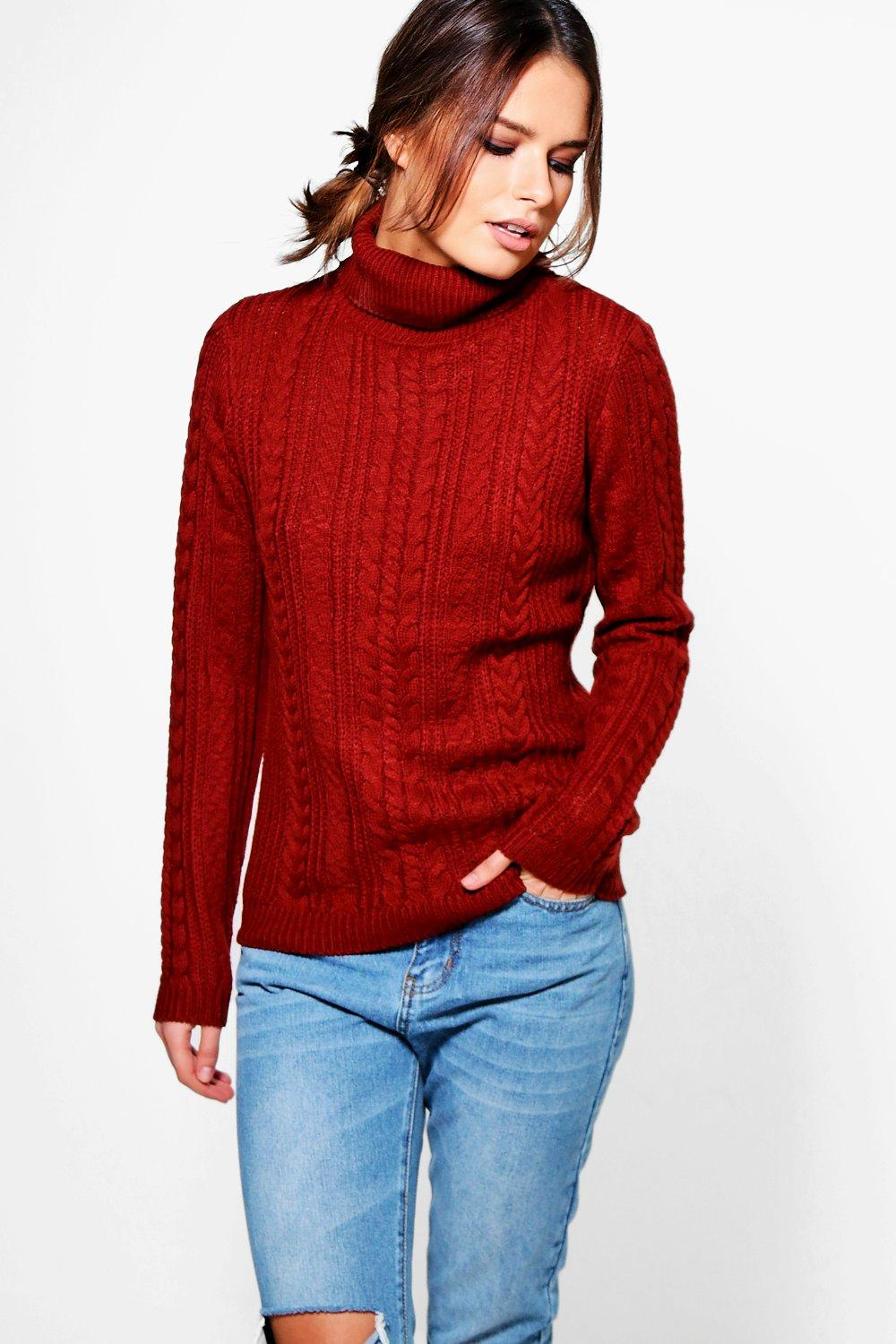 Alice Turtle Neck Cable Jumper