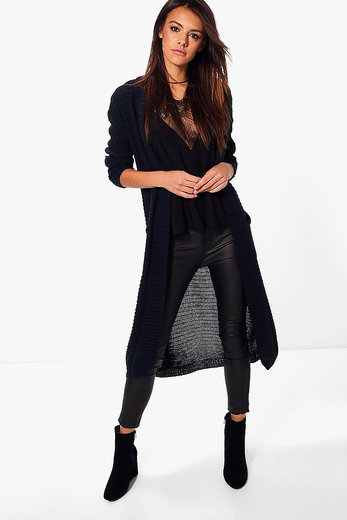 Lola Rib Edge to Edge Pocket Cardigan
