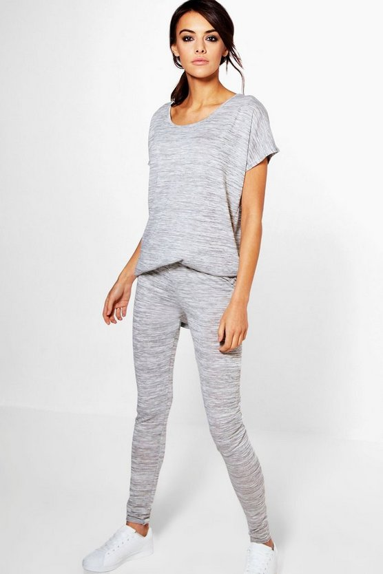 Erin Marl Knit Tee & Leggings Loungewear Set