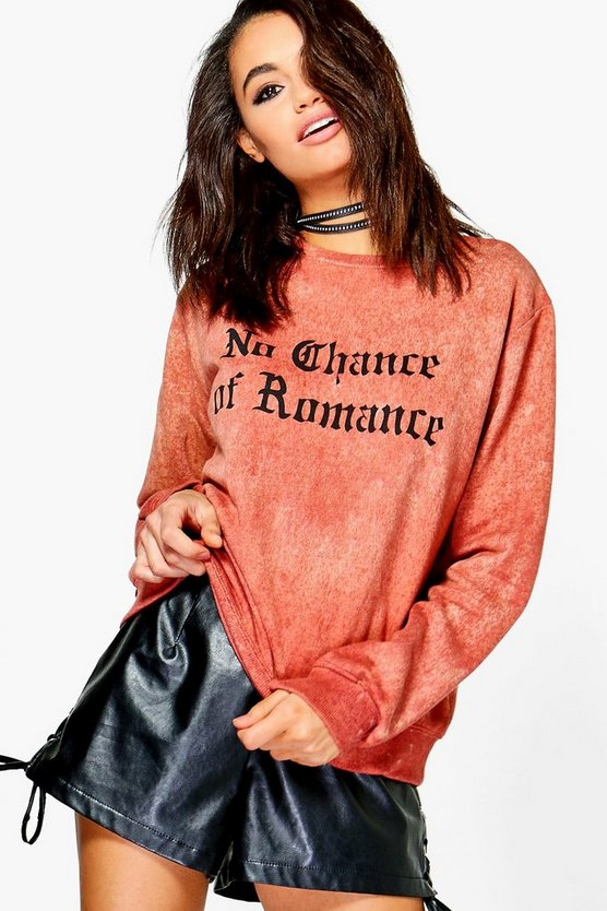Tilly Washed Slogan Sweatshirt