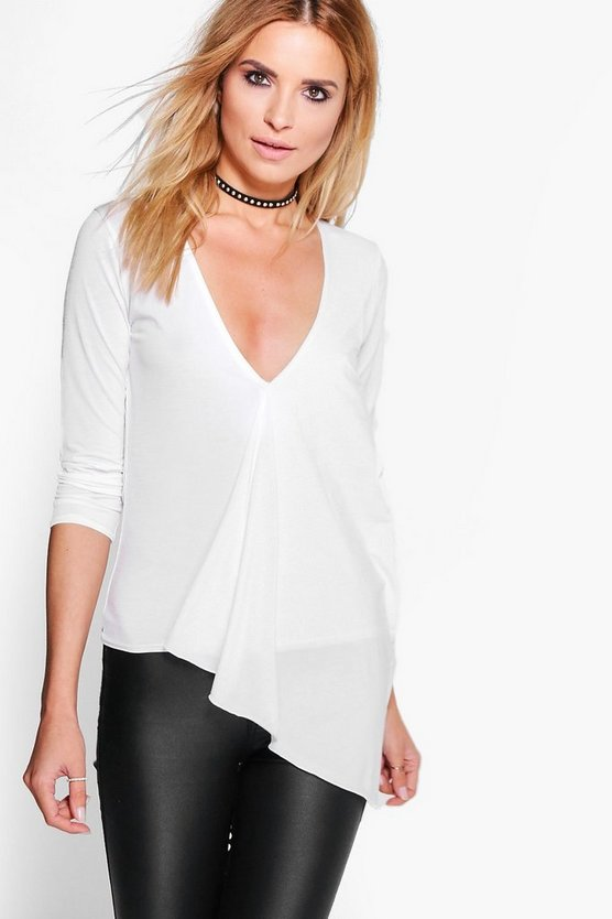 Isla Asymetric Wrapover Top