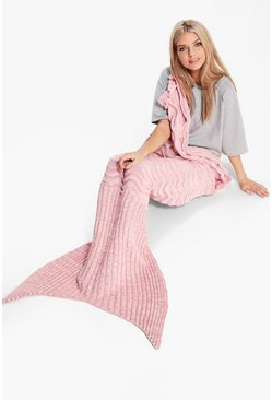 Multi Yarn Wave Scaled Mermaid Tail Blanket