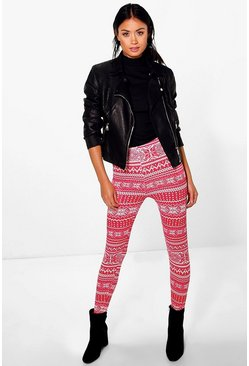 Faith Christmas Navahoe Print Leggings