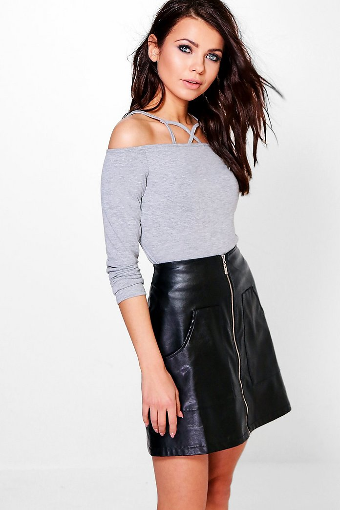 Avery Long Sleeve Caged Cold Shoulder