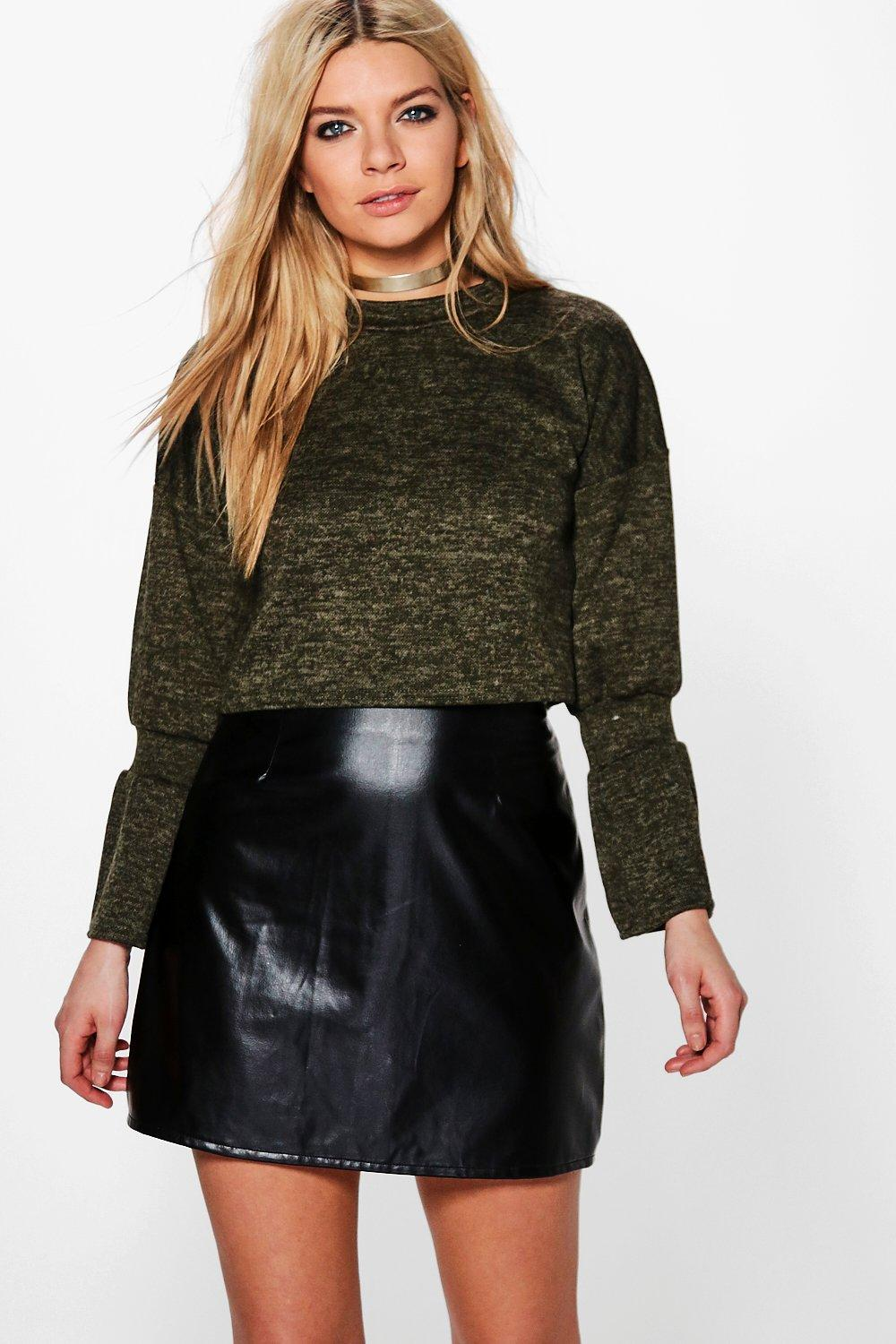 Felicity Flare Sleeve Crop Sweat